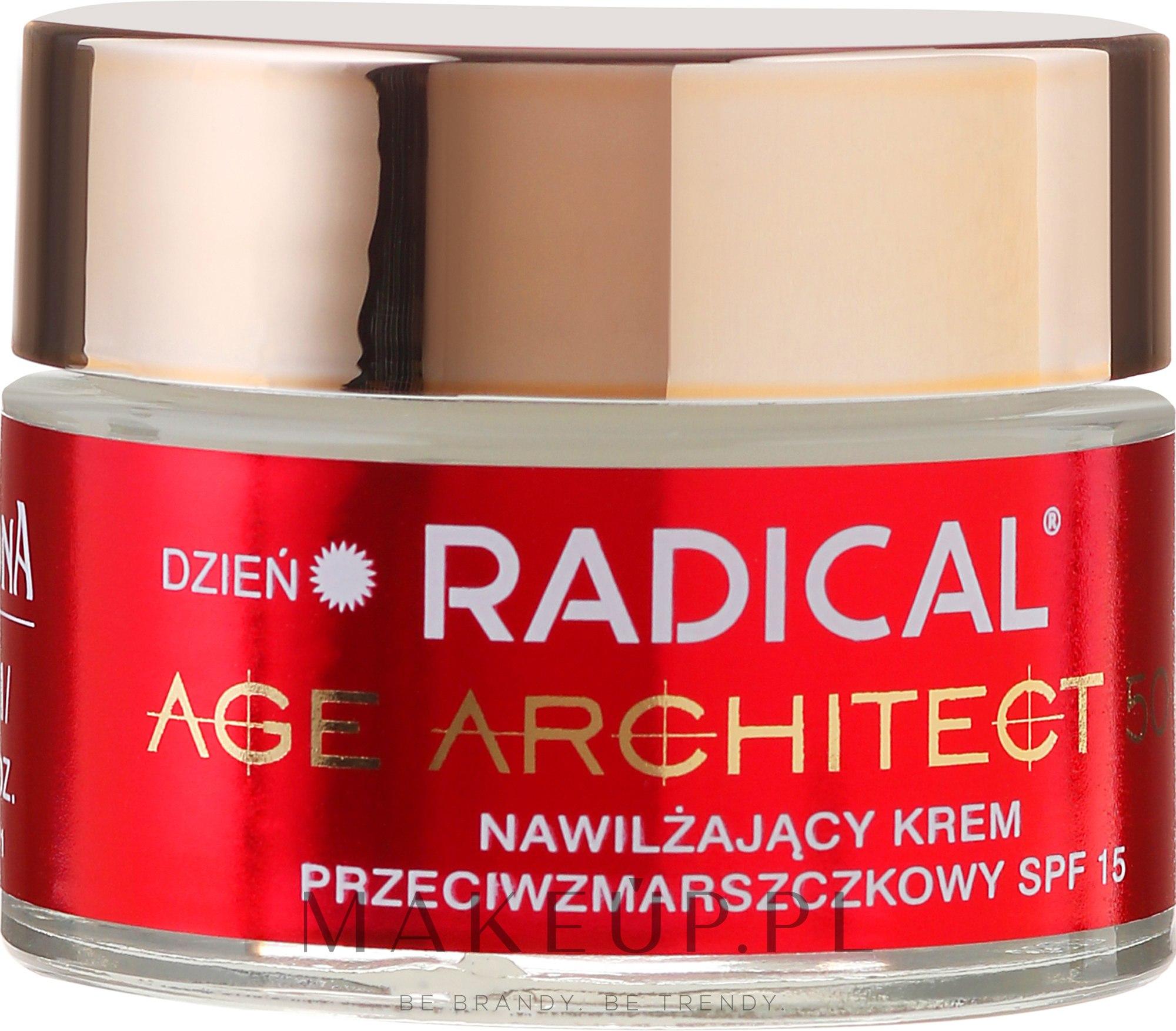Nawilżający krem przeciwzmarszczkowy SPF 15 - Farmona Radical Age Architect 50+ — фото 50 ml