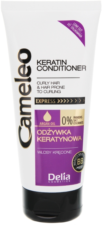 Odżywka keratynowa do włosów kręconych - Delia Cameleo Conditioner