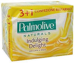 Mydło w kostce Mleko i miód, 3+1 - Palmolive Naturals Indulging Delight with Milk & Honey Soap — фото N2
