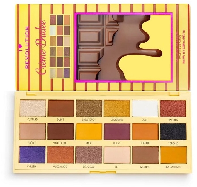 Paleta cieni do powiek - I Heart Revolution Eyeshadow Chocolate Palette Crème Brulee