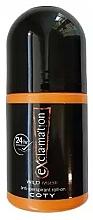 Kup Coty Ex'cla-ma'tion Wild Musk Anti-Transpirant Roll-On - Dezodorant