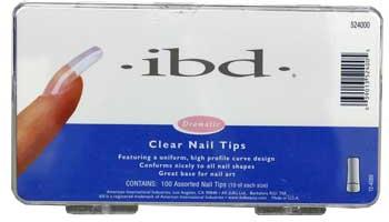 Tipsy do paznokci, przeźroczyste - IBD Clear Nail Tips — фото N1