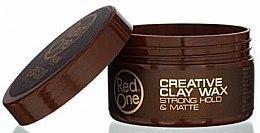 Kup Mocny wosk do stylizacji włosów - Red One Professional Men Creative Clay Wax Strong Hold Matte