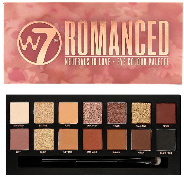 Paleta cieni do powiek - W7 Romanced Eyeshadow Palette