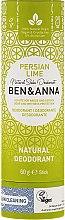 Kup Dezodorant na bazie sody w sztyfcie Perska limonka (tubka) - Ben & Anna Natural Soda Deodorant Paper Tube Persian Lime