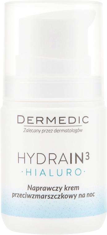 Naprawczy krem przeciwzmarszczkowy na noc - Dermedic Hydrain 3 Hialuro — фото N2