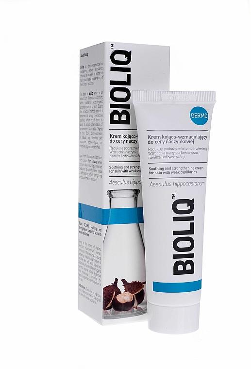 Krem kojąco-wzmacniający do cery naczynkowej - Bioliq Dermo Face Cream