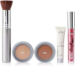 Kup Zestaw - Pur Minerals Best Sellers Starter Kit Light Tan (primer/10ml+found/4.3g+bronzer/3.4g+mascara/5g+brush)