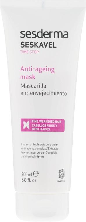 Przeciwstarzeniowa maska intensywnie naprawiająca do włosów - SesDerma Laboratories Seskavel Time Stop Anti-Ageing Mask — фото N2