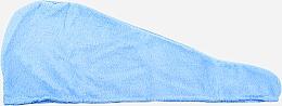 Kup Turban do włosów z mikrofibry, niebieski - Deni Carte