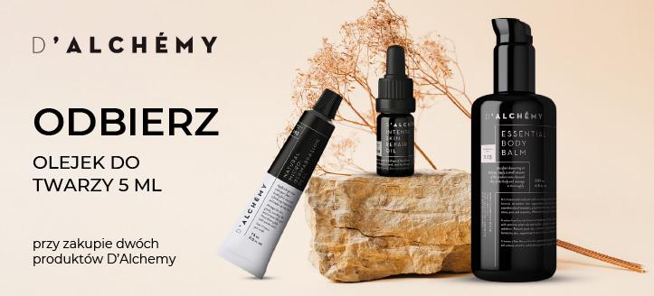 Kup dwa produkty D'Alchemy, a intensywnie regenerujący olejek do twarzy otrzymasz w prezencie.