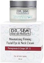 Kup Nawilżająco-ujędrniający krem do twarzy, okolic oczu i szyi z wyciągiem z granatu i imbiru SPF 15 - Dr. Sea Moisturizing And Firming Facial, Eye & Neck Cream With Pomegranate And Ginger Extracts