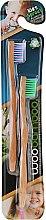 Kup Bambusowe szczoteczki do zębów dla dzieci, fioletowa + zielona - WooBamboo Kid's Toothbrush