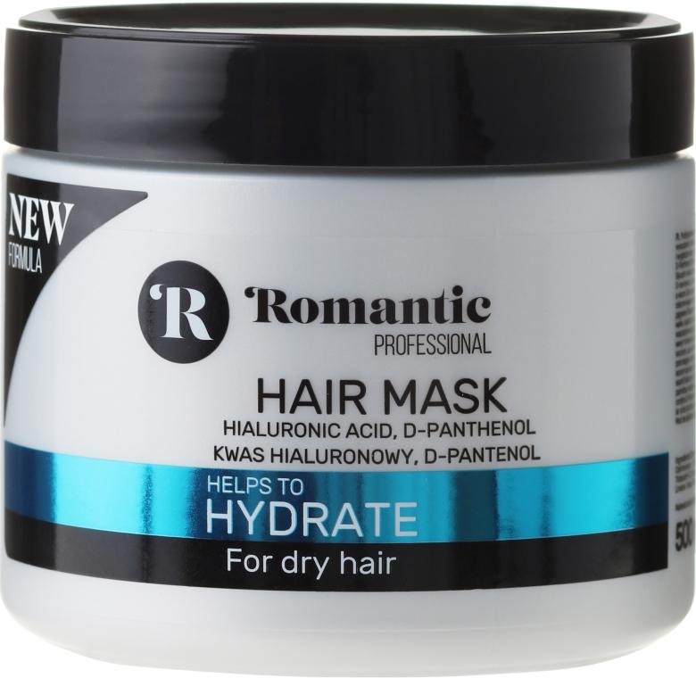 Nawilżająca maska do włosów suchych z kwasem hialuronowym i d-panthenolem - Romantic Professional Hydrate — фото N1