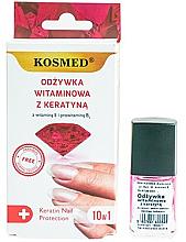 Kup Odżywka witaminowa z keratyną do paznokci - Kosmed Colagen Nail Protection 10in1