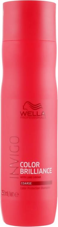 Szampon chroniący kolor farbowanych włosów grubych - Wella Professionals Invigo Color Brilliance Coarse Shampoo  — фото N1