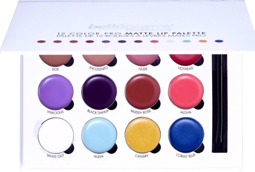Paleta do makijażu ust - Bellapierre 12 Color Pro Matte Lip Palette — фото N1