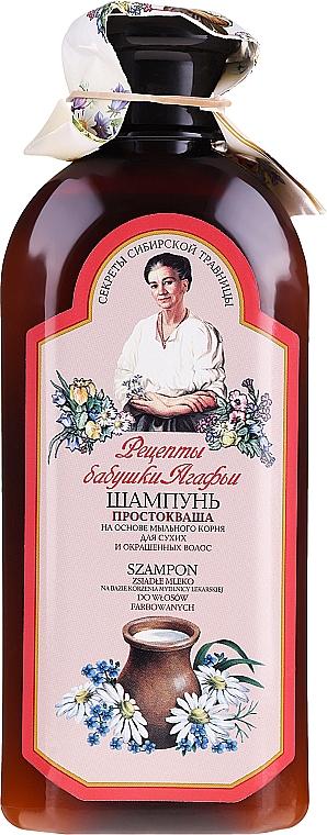 Szampon do włosów suchych i farbowanych Zsiadłe mleko - Receptury Babci Agafii