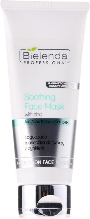Maseczka łagodząca do twarzy z cynkiem - Bielenda Professional Exfoliation Face Program Soothing Mask With Zinc