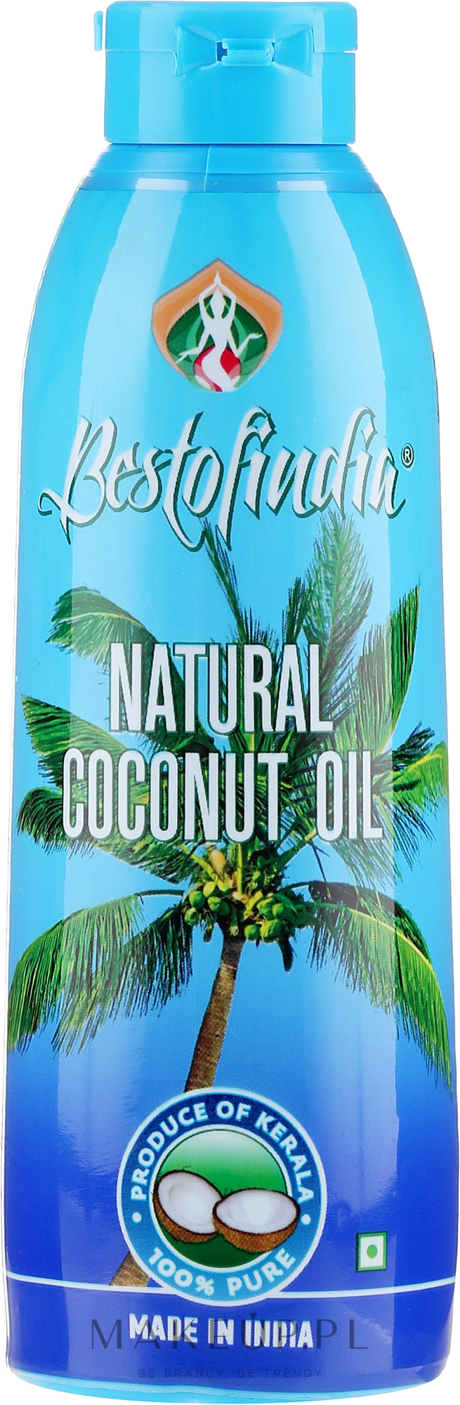 Naturalny olej kokosowy z Kerala do włosów i ciała - Bestofindia Natural Coconut Oil  — фото 100 ml