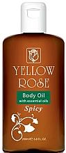 Kup Olejek do ciała - Yellow Rose Body Oil With Essential Oils Spicy