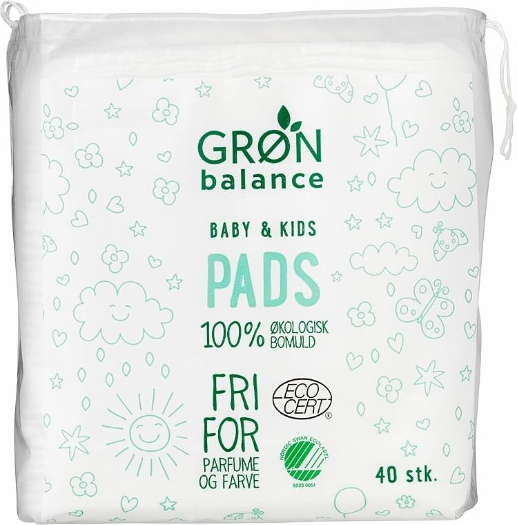 Płatki kosmetyczne dla dzieci , 40 szt. - Gron Balance Baby & Kids Pads — фото N1