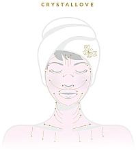 Masażer do twarzy z kryształu górskiego - Crystallove Clear Quartz Roller — фото N4