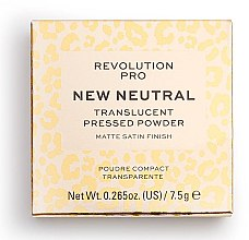 Prasowany transparentny puder do twarzy - Revolution Pro New Neutral Translucent Pressed Powder — фото N1
