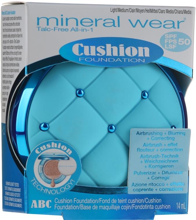 Podkład do twarzy w gąbce cushion - Physicians Formula Mineral Wear Talc-Free All-in-1 ABC Cushion Foundation SPF 50 — фото N4
