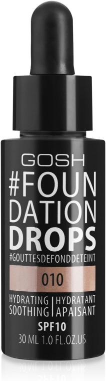 Podkład w kremie - Gosh Foundation Drops SPF 10