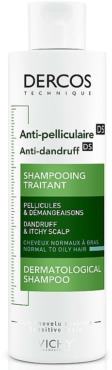Przeciwłupieżowy szampon z dwusiarczkiem selenu do włosów normalnych i przetłuszczających się - Vichy Dercos Anti-Pelliculaire Anti-Dandruff Shampooing