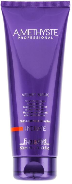 Nawilżająca maska do włosów suchych i osłabionych - Farmavita Amethyste Hydrate Velvet Mask — фото N1