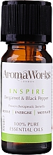 Kup Olejek eteryczny Bergamotka i czarny pieprz - AromaWorks Inspire Essential Oil