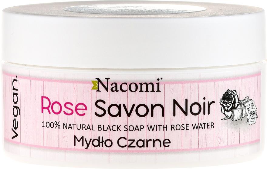 100% naturalne mydło czarne z wodą różaną - Nacomi Rose Savon Noir