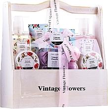 Kup Zestaw - IDC Institute Vintage Flowers (sh/g 240 ml + b/lot 50 ml + b/scrub 50 ml + salt 100 g + soap 4 x 3 g + bath/foam 240 ml + h/lot 100 ml + bomb 2 x 40 g)
