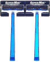 Kup PRZECENA! Maszynki do golenia bez wymiennych wkładów, 48 szt. - Super-Max Twin Blade *