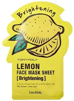 Maseczka do twarzy na tkaninie Cytryna - Tony Moly I'm Real Lemon Mask Sheet — фото N1