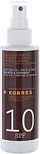 Kup Olejek do opalania - Korres Clear Sunscreen Body Face Walnut Coconut Oil SPF10