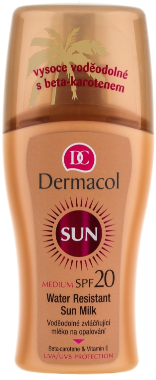 Wodoodporne mleczko do opalania SPF 20 - Dermacol Water Resistant Sun Milk — фото N1