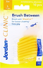 Kup Szczoteczki międzyzębowe L 0,7 mm, 10 szt., żółte - Jordan Brush Between