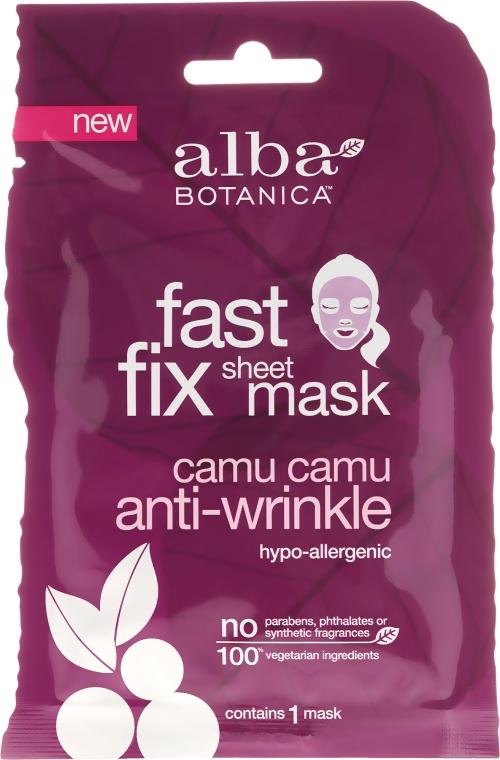 Przeciwzmarszczkowa maska w płachcie z camu camu - Alba Botanica Fast Fix Sheet Mask Camu Camu Anti-Wrinkle — фото N1
