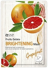 Kup Rozświetlająca maseczka w płachcie do twarzy z ekstraktem z grejpfruta - SNP Fruits Gelato Brightening Mask