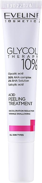 Kwasowa kuracja peelingująca - Eveline Cosmetics Glycol Therapy 10%