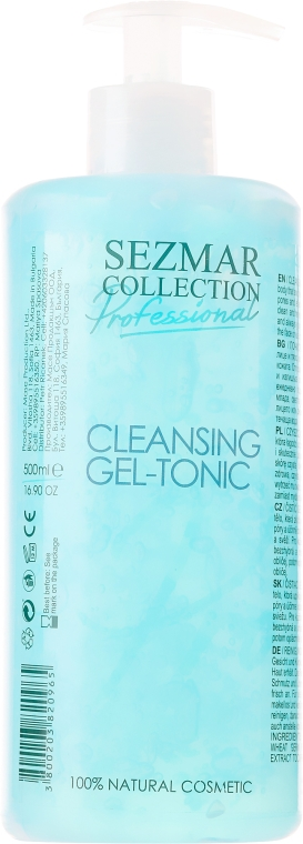 Oczyszczający żel-tonik do twarzy - Sezmar Collection Professional Cleansing Gel-Tonic — фото N1