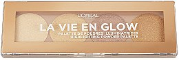 Kup Paletka rozświetlaczy - L'Oreal Paris La Vie en Glow Highlighting Powder Palette