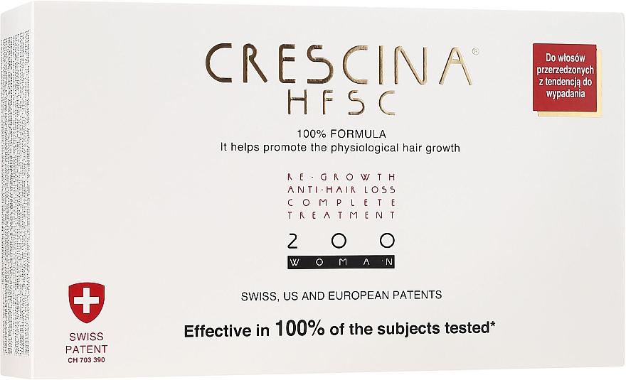 Preparat przeciw wypadaniu włosów dla kobiet 200 - Crescina Re-Growth HFSC Formula 100% — фото N1
