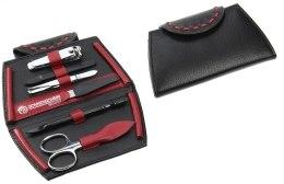 Kup Zestaw do manicure 6 elementów, czarno-czerwony, 3043-0005 - Hans Kniebes Solingen