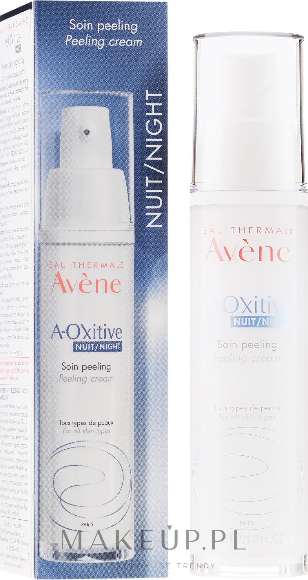 Rozświetlający peeling w kremie do twarzy na noc - Avene A-Oxitive Night Peeling Cream — фото 30 ml