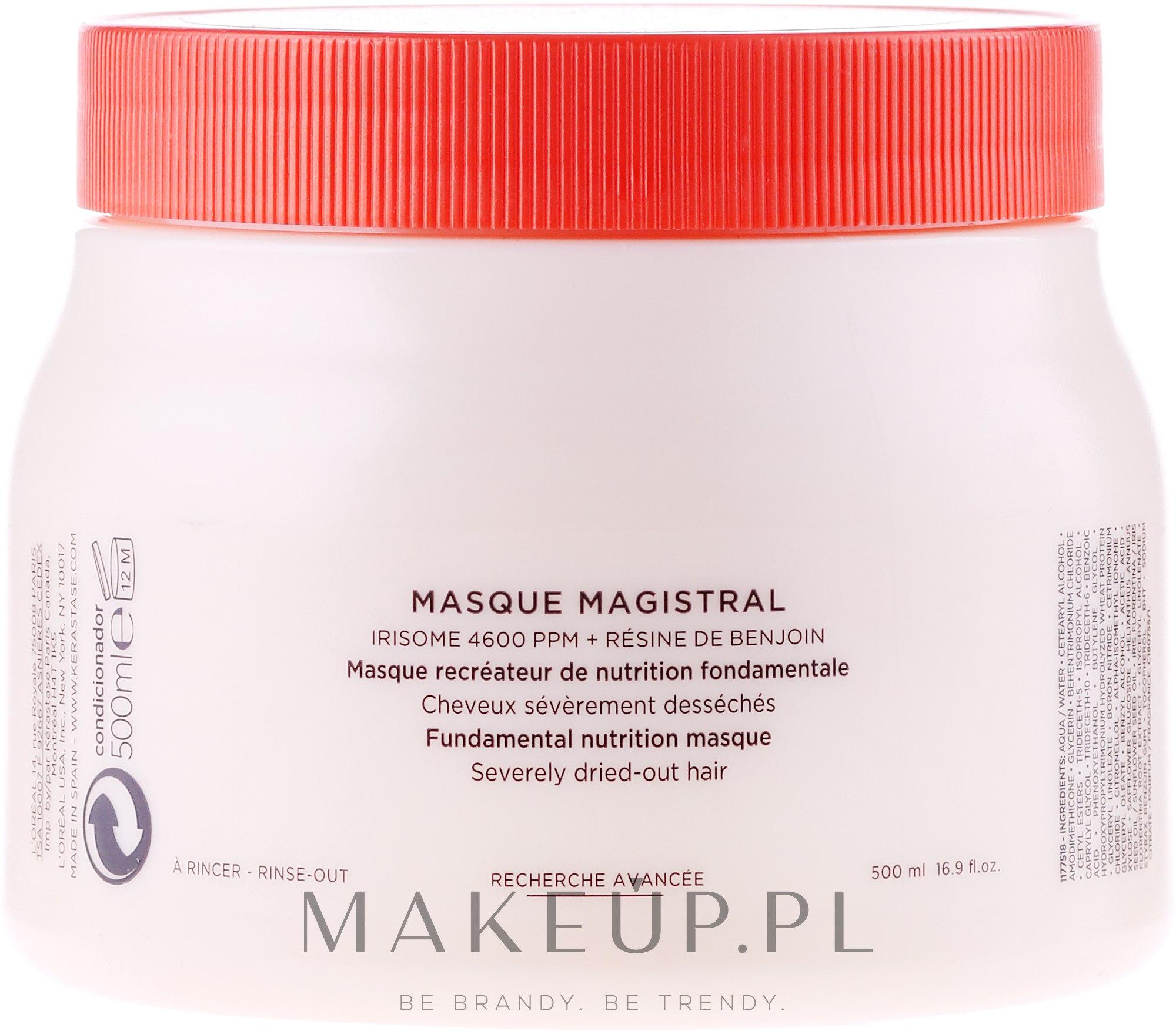 Odżywcza maska do włosów suchych - Kérastase Nutritive Masque Magistral — фото 500 ml