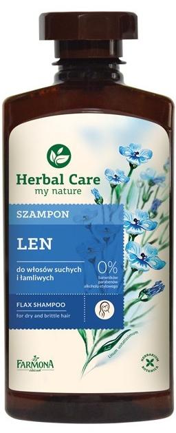 Szampon do włosów suchych i łamliwych Len - Farmona Herbal Care Flax Shampoo